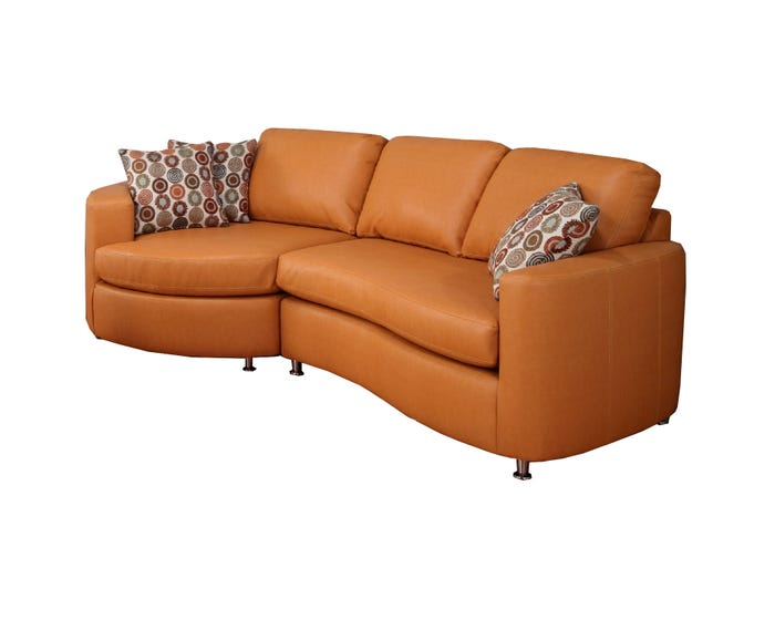 Tremendous Sofa Express By Fancy Morocco Collection Leather Air 2 Piece Sectional Salmon Orange 9905 Alphanode Cool Chair Designs And Ideas Alphanodeonline