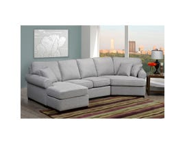 Sofa by Fancy Fabric Left-Facing Sectional in Infinity Dark Grey 9907