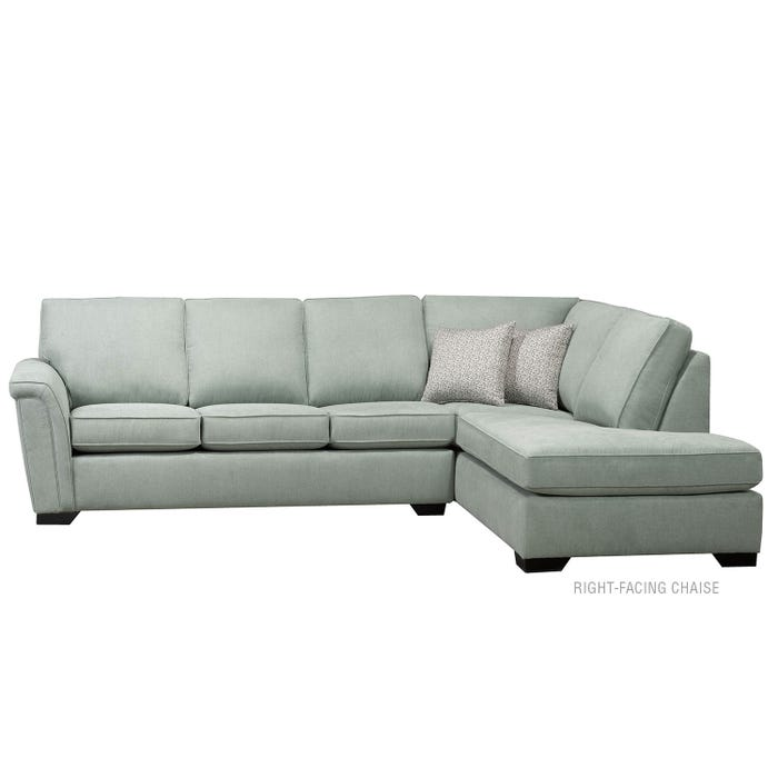 Sofa by Fancy 2-Piece Sectional in light grey green 9908