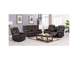K-Living Stanley Series 3pc Leathaire Power Recliner Sofa Set in Espresso 9912