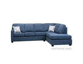 SBF Upholstery Dorset Collection 2-Piece Sectional in blue 9914
