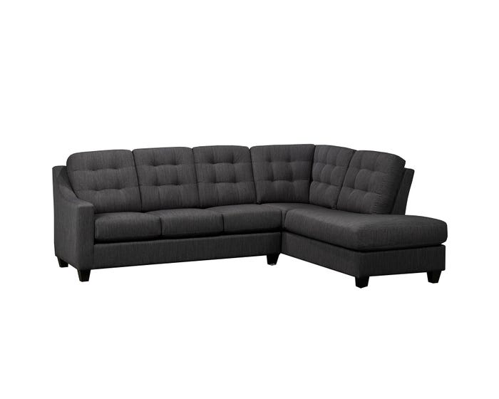 Surprising Sofa Express By Fancy Chelsea Fabric 2 Piece Sectional In Charcoal Grey 9930 Inzonedesignstudio Interior Chair Design Inzonedesignstudiocom