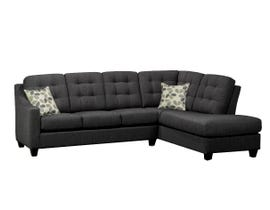 SBF Upholstery Chealsea Collection Fabric sofa sectional in Charcoal Grey finish 9930-4