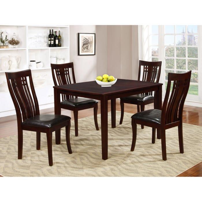 Brassex Fairmont 5-piece Kitchen Table Set Cappuccino 995-15-CAP