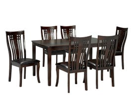 Brassex Fairmont Collection 7-piece wood dining set in espresso 995