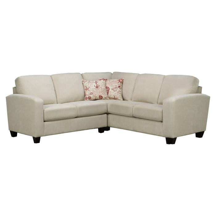 Sofa express by Fancy Sedona Collection fabric 2-piece sectional in ivory cream white 9975