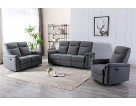 M.A.Z Fabric Reclining Sofa Set in Grey 99949GRY