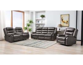M.A.Z  Microfiber Reclining Sofa Set in Grey 99950