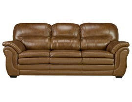 SBF Upholstery Andrew Collection Leather-Air Sofa in Neptune Brown Umber 4000-1