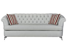 SBF Upholstery Cadenza Collection Fabric Sofa Tufted Back with Crystals in Gleam Cream finish 2268-1