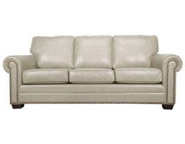 SBF Upholstery Leather Sofa in Ice 7557