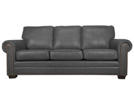 SBF Upholstery Leather Sofa in Grey 7557