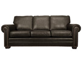 SBF Upholstery Leather Sofa in Chocolate 7557