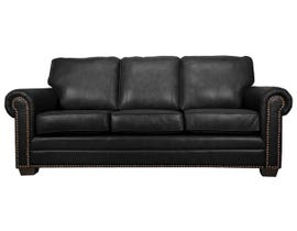 SBF Upholstery Leather Match Sofa in Black 7557