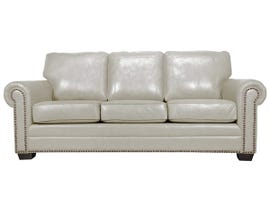 SBF Upholstery Leather Match Sofa in Bisque 7557