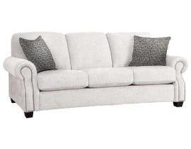 Decor-Rest Rico Collection Fabric Sofa in Hot Ivory/Hedge Oreo 2279