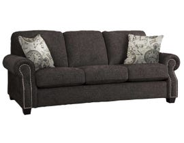 Decor-Rest Rico Collection Fabric Sofa in Rick Pewter/Clocks Taupe 2279