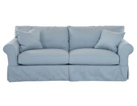 Klaussner Jillington Series Slipcovered Sofa in Spa Blue D16100