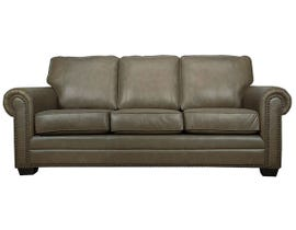 SBF Upholstery Leather Sofa in Cobblestone 7557