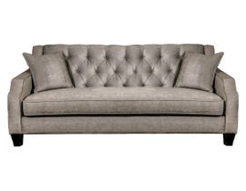 SBF Upholstery Fabric Tufted Sofa in Latte 2245