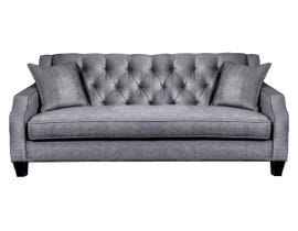 SBF Upholstery Fabric Tufted Sofa in Grey 2245
