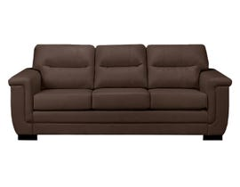 A&C Furniture Leather Look Sofa in Brown 6150
