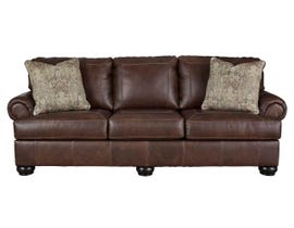 Signature Design by Ashley Bearmerton Series Leather Sofa in Vintage 8790138