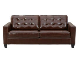 Signature Design by Ashley Altonbury Leather Sofa in Walnut 8750438