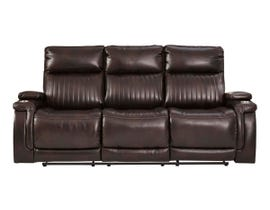 Signature Design by Ashley Team Time Series PWR REC Sofa with ADJ Headrest in Chocolate 7830415