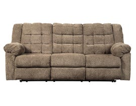 Signature Design by Ashley Workhorse Collection Fabric Reclining Sofa in Cocoa 5840188
