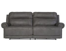 Signature Design by Ashley 2-Seat Reclining Power Fabric Sofa in Grey 3840147