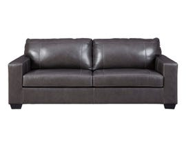 Signature Design by Ashley Morelos Series Leather Sofa in Grey 3450338