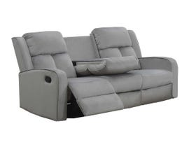 Kwality Hillsdale Series Reclining Sofa with Drop Down Tray in Grey 7712