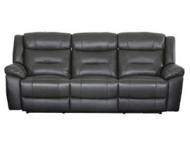 Primo Montana Series Leather Manual Reclining Sofa in Cement Grey 482