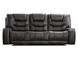 L-style Leather Look Power Reclining Sofa in Mustang Cobalt U80143-61B