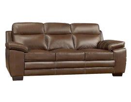 A&C Furniture Leather Sofa in Saddle 1010