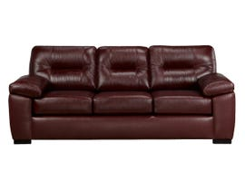 SBF Upholstery Zurick Leather Sofa in Brown 4060
