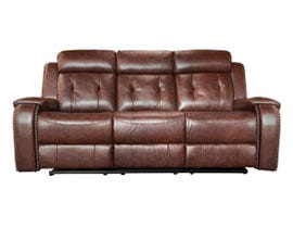 Baker Series Leather Gel Reclining Sofa in Cognac 170