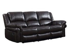 Motion Reclining Leather Air Sofa in Espresso UPH3186L