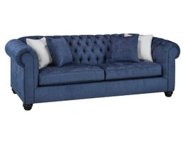 SBF Upholstery Mia Collection Fabric Sofa in Midnight 2525