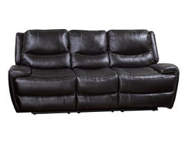 K-Living Myla High Grade Leather Power Recliner Sofa with Drop Down Tray in Chocolate Brown
