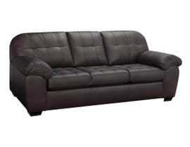 SBF Upholstery Havana Leather Air Sofa in Brown 4800