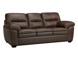 SBF Upholstery Ethan Leather-Air Sofa in Neptune Chocolate