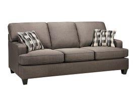 SBF Upholstery Krysta Series Fabric Sofa in Coffee Brown 4150
