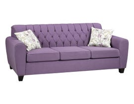 A&C Furniture Fabric Sofa in Orchid Purple 2870