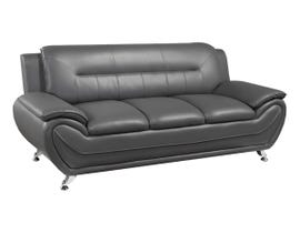 Brassex Riley 3-Seater Fabric Sofa in Grey 2220S