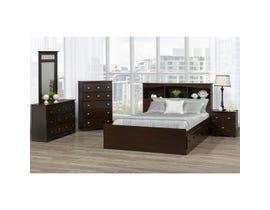 Modern Furniture Storage Bedroom Set in Chocolate Pearl A10