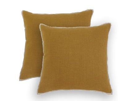 Decorative Pillow Ashley Amiela Solid Mustard Pillow Cover A1000343 Lastman S Bad Boy