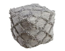 Signature Design by Ashley Adelphie Series natural grey Pouf A1000388