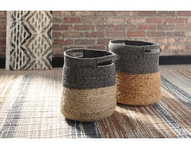 Signature Design by Ashley PARRISH  Series two-tone NATURAL/BLACK Baskets A2000095 (Set of 2)